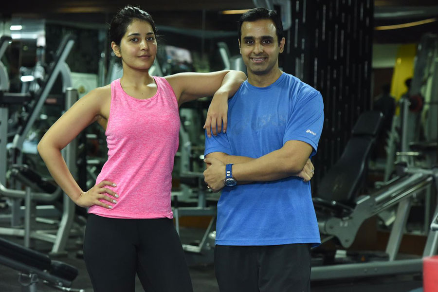 Rashee Khanna at 360 Degree Fitness