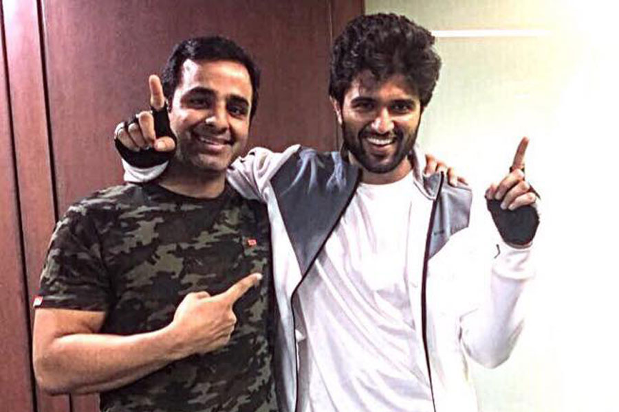 Vijay Devarakonda at 360 Degree Fitness